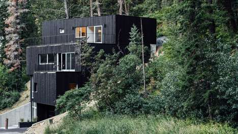 Dark Stacked Modern Abodes - Chris Price's Park City Design+Build Refines the Exterior of This Home