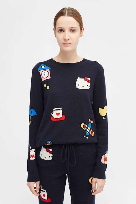 Luxurious Cartoon-Inspired Cashmere Apparel