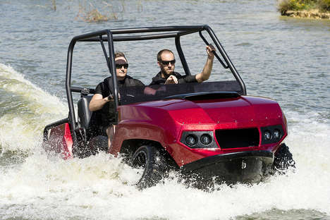 Water-Friendly Utility Vehicles - The Gibbs Terraquad Amphibious UTV Tackles Land and Water