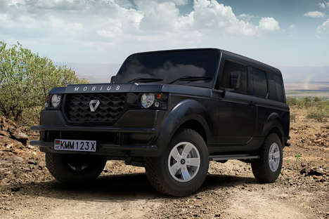 African Terrain-Tackling SUVs - The Mobius II SUV Helps Drivers Traverse the Kenyan Terrain