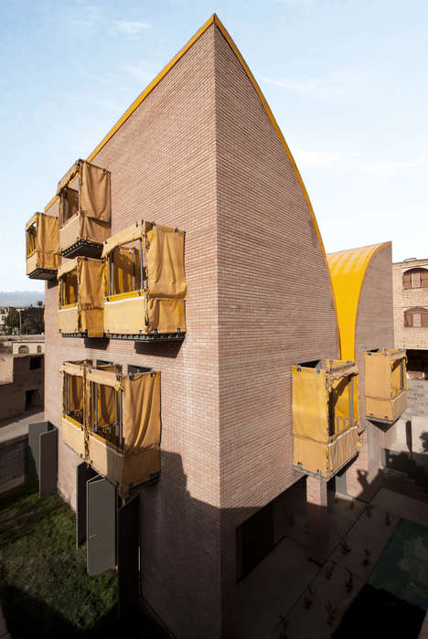 Youth-Oriented Iranian Residential Centers - ZAV Architects's Building Boasts Covered Balconies