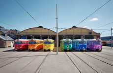 Prideful Vibrant Tram Designs