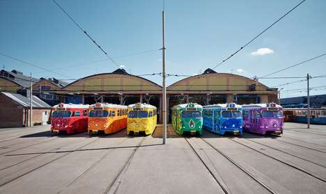 Prideful Vibrant Tram Designs - Västtrafik Celebrates Euro Pride with Bold and Colorful Streetcars