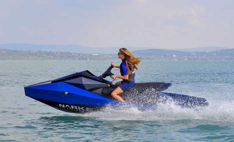 Eco-Friendly Aquatic Recreation Vehicles - The Narke Electrojet Boasts a Powerful, Angular Design