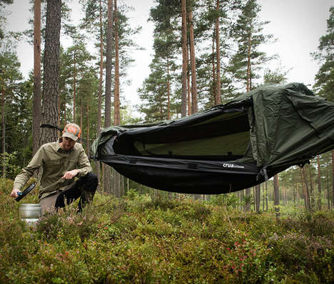 Convertible Camping Tents - The Crua Hybrid Hammock Tent is Ready for Extended Periods Outdoors