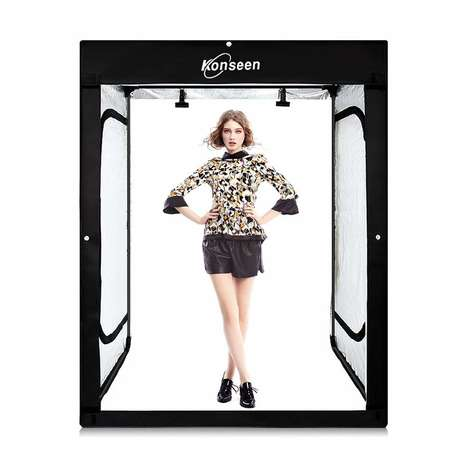 Portable DIY Photography Tents - The Konseen Professional Photography Studio Has 96 Bright LEDs