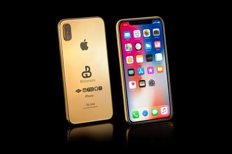 Golden Next-Generation Smartphones - The Gold Genie 2018 iPhone X Comes in Several Gilded Options