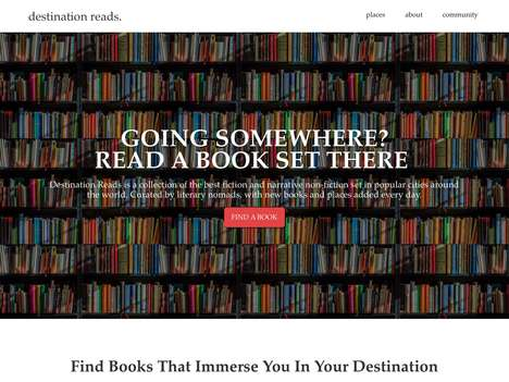 Literary Travel Inspiration Platforms - 'Destination Reads' Suggests Books Based on Your Next Trip