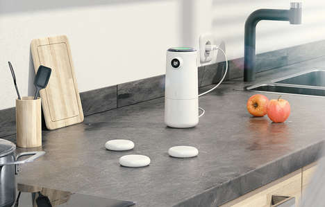 Health-Oriented Kitchen Activity Monitors - The Nokia Kitchen Mate Suggests Healthy Recipes