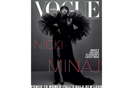 Rapper-Featured Cover Shoots - Nicki Minaj is the Focus of Vogue Arabia's September Issue