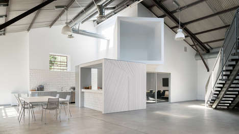Office-Optimized Industrial Spaces - FreelandBuck Curates a Playful Office Interior for a Client