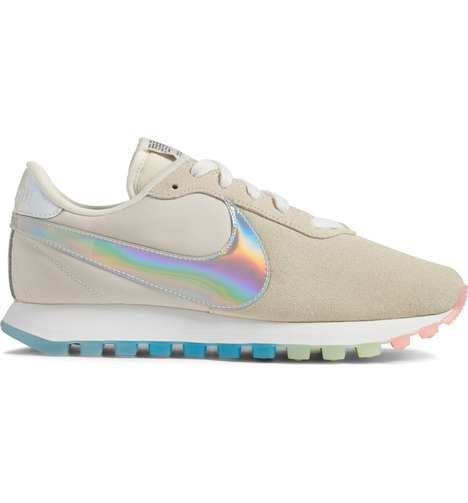 Elegant Holographic Sneaker Releases