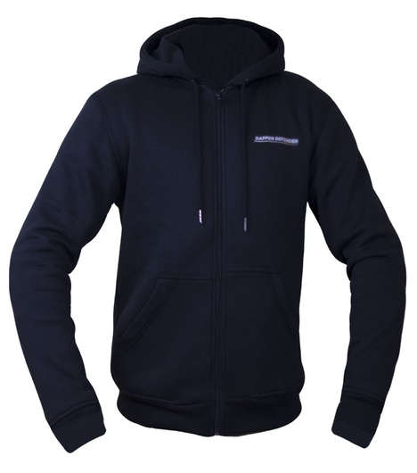 Slim Motorcyclist Protection Sweaters - The Dapper Defender Motorcycle Hoodie is Infused with Kevlar