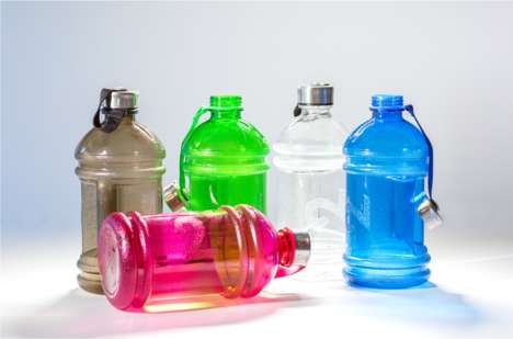 Optimal H2O Intake Bottles - The 'Dual Bottle' Contains All the Water You Need to Drink Each Day