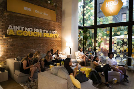 Home-Style Movie Events - Bumble and HBO's 'Stay Home' Activation Played Up Indoor Comforts