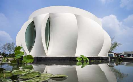 Flower-Shaped Printed Abodes - WashU's 'Lotus House' Boasts a Sustainable, 3D-Printed Design
