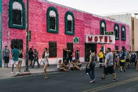 Vibrant Giant Piñata Installations