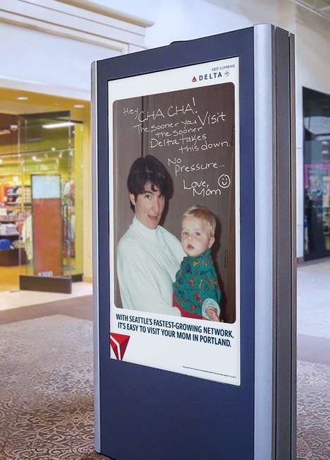 Humorous Family-Centric Travel Campaigns - Delta Airlines Reminds Kids in Seattle to Visit Home