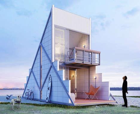 Triangular Weekend Retreat Houses