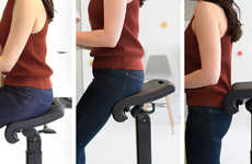 Ergonomic Standing Desk Chairs - Ergo Impact's LeanRite Elite Supports Sitting, Leaning & Perching