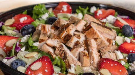 Satisfying QSR Summer Salads - The Habit Fresh Berry & Toasted Almond Salad with Chicken is Seasonal