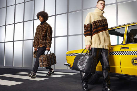 Luxurious Logo-Centric Fashion Collections - Fendi's Fall/Winter 2018 is Defined by Class & Coziness