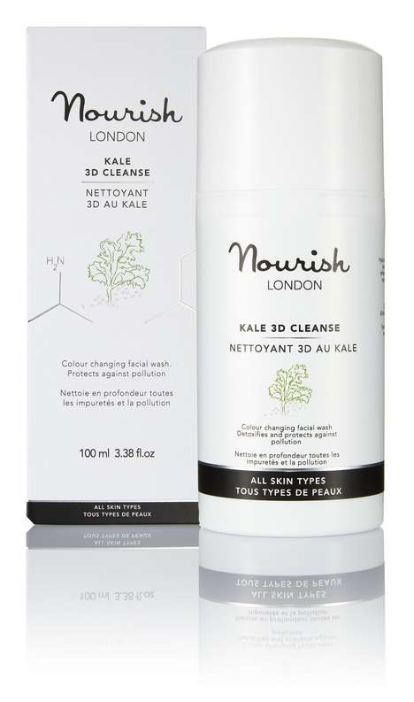 Color-Changing Kale Cleansers - Nourish London's 'Kale 3D Cleanse' Facial Wash Takes on a Green Tone