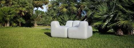 Concrete Modular Outdoor Seats