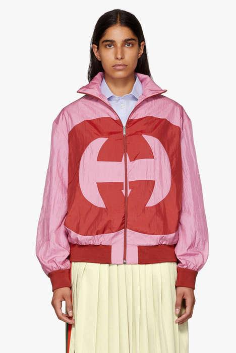 Pink Logo Track Jackets