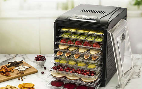 Nutritious Dehydrated Snack Appliances - The Gourmia GFD1950 Electric Food Dehydrator is Convenient