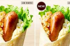 German-Style Sausage Wraps - The KFC Japan German Twister is Made with a Sausage, Potatoes and More