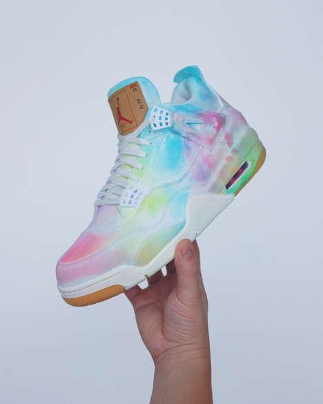 Custom Tie-Dye Sneaker Iterations