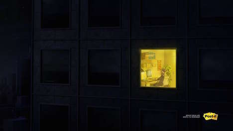 Creativity-Celebrating Campaigns - Post-it's Clever Advertisement Honors the Artistic Spirit