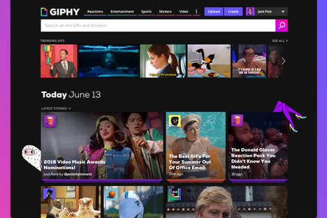 Story-Driven GIF Homepages