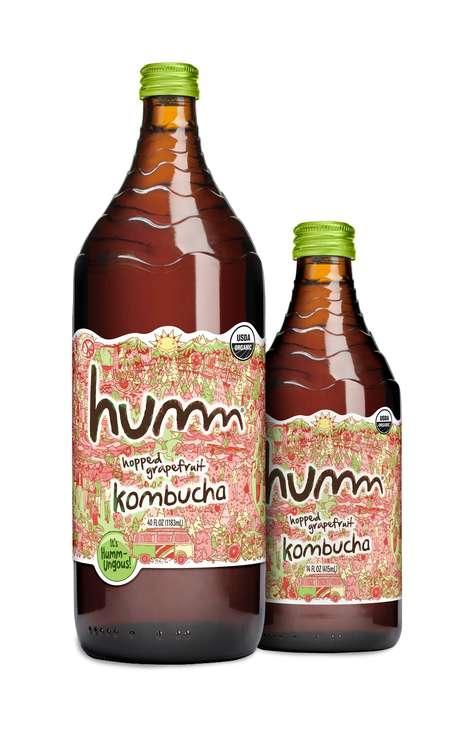 40-Ounce Kombucha Bottles