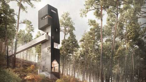 Multifunctional Observation Tower Concepts - Denizen Works Proposes a Design-Forward Viewing Tower