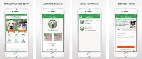 Convenient Pet Insurance Apps - The Healthy Paws Mobile App Offers a Paperless Way Protect Pets