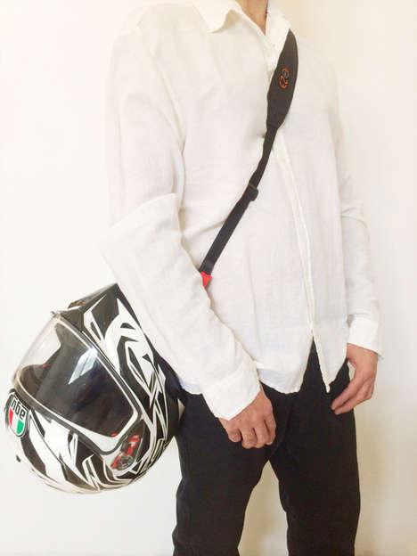 Convenient Motorcycle Helmet Straps