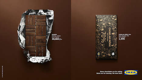 Furniture-Inspired Chocolate Advertisements