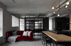 Contemporary Moody Apartment Interiors