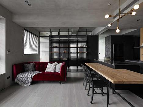 Contemporary Moody Apartment Interiors