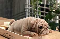 Lifelike Dog-Shaped Desserts