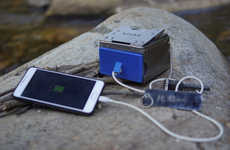 Device-Charging Camping Stoves