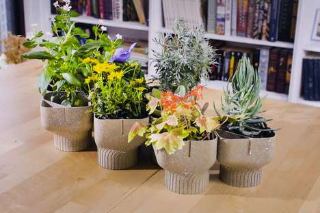 Food Waste Flower Pots