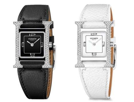 Contrasting Diamond Watches