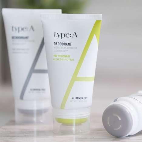 Sweat-Activated Non-Toxic Deodorants