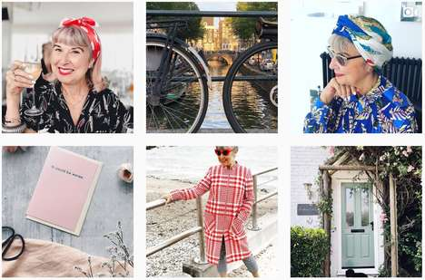 Age-Positive Lifestyle Blogs - Alternative Ageing Boasts Mature Fashion, Beauty and Travel Content