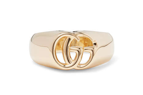 Luxurious Logo-Adorning Rings - Gucci Drops the 18k Golden Double G Ring That Highlights Its Logo