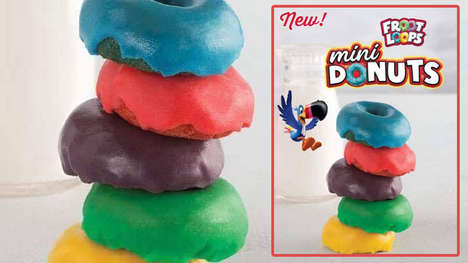 Frosted Cereal-Inspired Donuts