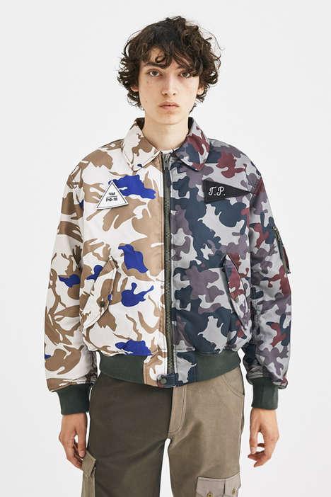 Contrasting Split Camo Jackets